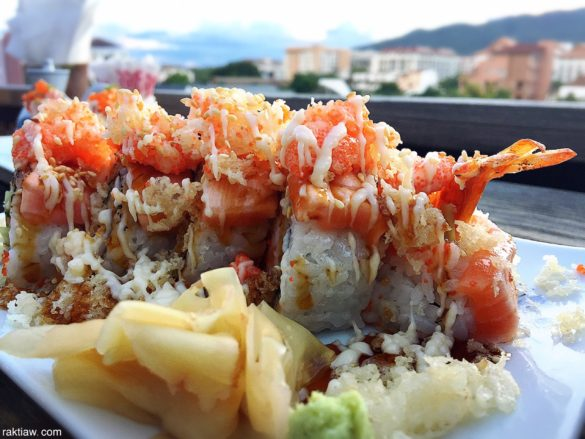 sushi at nori sky terrace chiang mai